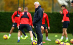 SOUTHAMPTON, ENGLAND - NOVEMBER 06: Mark Hughes (middle) during a Southampton FC training session at Staplewood Complex on November 6, 2018 in Southampton, England. (Photo by James Bridle - Southampton FC/Southampton FC via Getty Images)