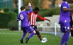 SOUTHAMPTON, ENGLAND - NOVEMBER 10: Alex Jankewitz (middle)during the U18 Premier League match between Southampton FC and Stoke City FC pictured at Staplewood Complex on November 10, 2018 in Southampton, England. (Photo by James Bridle - Southampton FC/Southampton FC via Getty Images)
