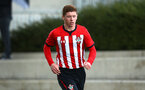 SOUTHAMPTON, ENGLAND - NOVEMBER 10: Kameron Ledwidge during the U18 Premier League match between Southampton FC and Stoke City FC pictured at Staplewood Complex on November 10, 2018 in Southampton, England. (Photo by James Bridle - Southampton FC/Southampton FC via Getty Images)