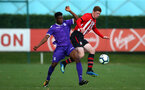 SOUTHAMPTON, ENGLAND - NOVEMBER 10: Kameron Ledwidge (right) during the U18 Premier League match between Southampton FC and Stoke City FC pictured at Staplewood Complex on November 10, 2018 in Southampton, England. (Photo by James Bridle - Southampton FC/Southampton FC via Getty Images)