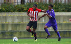 SOUTHAMPTON, ENGLAND - NOVEMBER 10: Kayne Ramsay (left) during the U18 Premier League match between Southampton FC and Stoke City FC pictured at Staplewood Complex on November 10, 2018 in Southampton, England. (Photo by James Bridle - Southampton FC/Southampton FC via Getty Images)