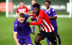 SOUTHAMPTON, ENGLAND - NOVEMBER 10: Alex Jankewitz (right) during the U18 Premier League match between Southampton FC and Stoke City FC pictured at Staplewood Complex on November 10, 2018 in Southampton, England. (Photo by James Bridle - Southampton FC/Southampton FC via Getty Images)