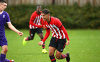 SOUTHAMPTON, ENGLAND - NOVEMBER 10: Benni Smales-Braithwaite scores during the U18 Premier League match between Southampton FC and Stoke City FC pictured at Staplewood Complex on November 10, 2018 in Southampton, England. (Photo by James Bridle - Southampton FC/Southampton FC via Getty Images)