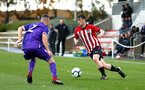 SOUTHAMPTON, ENGLAND - NOVEMBER 10: Will Ferry (right) during the U18 Premier League match between Southampton FC and Stoke City FC pictured at Staplewood Complex on November 10, 2018 in Southampton, England. (Photo by James Bridle - Southampton FC/Southampton FC via Getty Images)