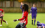 SOUTHAMPTON, ENGLAND - NOVEMBER 10: Taymar Fleary (middle) during the U18 Premier League match between Southampton FC and Stoke City FC pictured at Staplewood Complex on November 10, 2018 in Southampton, England. (Photo by James Bridle - Southampton FC/Southampton FC via Getty Images)