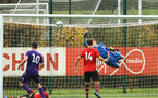 SOUTHAMPTON, ENGLAND - NOVEMBER 10: Jack Bycroft makes a save punching the ball (left of goal) during the U18 Premier League match between Southampton FC and Stoke City FC pictured at Staplewood Complex on November 10, 2018 in Southampton, England. (Photo by James Bridle - Southampton FC/Southampton FC via Getty Images)