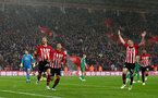 SOUTHAMPTON, ENGLAND - NOVEMBER 10: Manolo Gabbiadini(L) of Southampton celebrates after opening the scoring during the Premier League match between Southampton FC and Watford FC at St Mary's Stadium on November 10, 2018 in Southampton, United Kingdom. (Photo by Matt Watson/Southampton FC via Getty Images)
