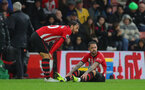 SOUTHAMPTON, ENGLAND - NOVEMBER 10: Danny Ings of Southampton down injured during the Premier League match between Southampton FC and Watford FC at St Mary's Stadium on November 10, 2018 in Southampton, United Kingdom. (Photo by Matt Watson/Southampton FC via Getty Images)