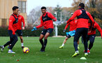 SOUTHAMPTON, ENGLAND - NOVEMBER 22: Marcus Barnes(centre) during a Southampton FC training session at the Staplewood Campus on November 22, 2018 in Southampton, England. (Photo by Matt Watson/Southampton FC via Getty Images)