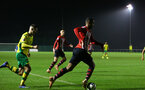 NORWICH, ENGLAND - NOVEMBER 23: Yan Valery (Middle) during the U23s PL2 match between Norwich City and Southampton FC pictured at Colney Training Ground on November 23, 2018 in Norwich, England. (Photo by James Bridle - Southampton FC/Southampton FC via Getty Images)
