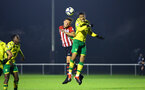 NORWICH, ENGLAND - NOVEMBER 23: Harry Hambli (left) during the U23s PL2 match between Norwich City and Southampton FC pictured at Colney Training Ground on November 23, 2018 in Norwich, England. (Photo by James Bridle - Southampton FC/Southampton FC via Getty Images)