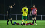 NORWICH, ENGLAND - NOVEMBER 23: Callum Slattery goes down (middle) during the U23s PL2 match between Norwich City and Southampton FC pictured at Colney Training Ground on November 23, 2018 in Norwich, England. (Photo by James Bridle - Southampton FC/Southampton FC via Getty Images)