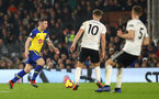 LONDON, ENGLAND - NOVEMBER 24: Pierre-Emile Hojbjerg of Southampton during the Premier League match between Fulham FC and Southampton FC at Craven Cottage on November 24, 2018 in London, United Kingdom. (Photo by Matt Watson/Southampton FC via Getty Images)