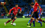 LEICESTER, ENGLAND - NOVEMBER 27: Yan Valery of Southampton during the Carabao Cup Fourth Round match between Leicester City and Southampton at The King Power Stadium on November 27th, 2018 in Leicester, England. (Photo by Matt Watson/Southampton FC via Getty Images)