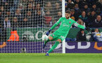 LEICESTER, ENGLAND - NOVEMBER 27: Angus Gunn of Southampton during the Carabao Cup Fourth Round match between Leicester City and Southampton at The King Power Stadium on November 27th, 2018 in Leicester, England. (Photo by Matt Watson/Southampton FC via Getty Images)