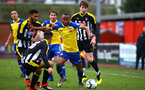 NOTTINGHAM, ENGLAND - NOVEMBER 28: Tyreke Johnson (middle) during the Cup match between Notts County and Southampton at IIklestone Town FC on November 28, 2018 in Nottingham, England. (Photo by James Bridle - Southampton FC/Southampton FC via Getty Images)