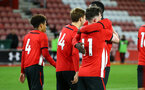 SOUTHAMPTON, ENGLAND - NOVEMBER 04: Will Ferry scores and celebrates with the team during the U18's FA Youth Cup match between Southampton FC and Rotherham United pictured at St Mary's Stadium on December 4, 2018 in Southampton, England. (Photo by James Bridle - Southampton FC/Southampton FC via Getty Images)