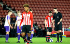 SOUTHAMPTON, ENGLAND - NOVEMBER 04: Will Ferry (right) awarded a freekick during the U18's FA Youth Cup match between Southampton FC and Rotherham United pictured at St Mary's Stadium on December 4, 2018 in Southampton, England. (Photo by James Bridle - Southampton FC/Southampton FC via Getty Images)