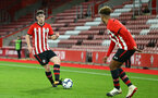 SOUTHAMPTON, ENGLAND - NOVEMBER 04: Will Ferry (left) during the U18's FA Youth Cup match between Southampton FC and Rotherham United pictured at St Mary's Stadium on December 4, 2018 in Southampton, England. (Photo by James Bridle - Southampton FC/Southampton FC via Getty Images)