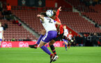 SOUTHAMPTON, ENGLAND - NOVEMBER 04: Enzro Robise (right) during the U18's FA Youth Cup match between Southampton FC and Rotherham United pictured at St Mary's Stadium on December 4, 2018 in Southampton, England. (Photo by James Bridle - Southampton FC/Southampton FC via Getty Images)