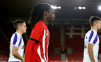 SOUTHAMPTON, ENGLAND - NOVEMBER 04: Taymar Fleary ahead of Kick off for the U18's FA Youth Cup match between Southampton FC and Rotherham United pictured at St Mary's Stadium on December 4, 2018 in Southampton, England. (Photo by James Bridle - Southampton FC/Southampton FC via Getty Images)