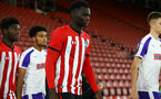 SOUTHAMPTON, ENGLAND - NOVEMBER 04: David Kpohomouh during the U18's FA Youth Cup match between Southampton FC and Rotherham United pictured at St Mary's Stadium on December 4, 2018 in Southampton, England. (Photo by James Bridle - Southampton FC/Southampton FC via Getty Images)