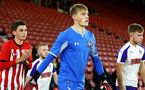 SOUTHAMPTON, ENGLAND - NOVEMBER 04: Jack Bycroft (middle) during the U18's FA Youth Cup match between Southampton FC and Rotherham United pictured at St Mary's Stadium on December 4, 2018 in Southampton, England. (Photo by James Bridle - Southampton FC/Southampton FC via Getty Images)
