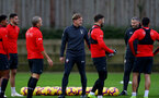 SOUTHAMPTON, ENGLAND - DECEMBER 06: new Southampton FC manager Ralph Hasenhüttl during his first Southampton FC training session at the Staplewood Campus on December 6, 2018 in Southampton, England. (Photo by Matt Watson/Southampton FC via Getty Images)