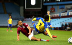 BIRMINGHAM, ENGLAND - DECEMBER 07: Nathan Tella (right) fouled during the match between Aston Villa FC and Southampton FC pictured at Villa Park Stadium  on December 7, 2018 in Birmingham, England. (Photo by James Bridle - Southampton FC/Southampton FC via Getty Images)