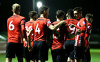 SOUTHAMPTON, ENGLAND - DECEMBER 11: Will Ferry scores and celebrates with the team during the U23s Cup match between Southampton FC and West Ham United pictured at Staplewood Training Ground on December 11, 2018 in Southampton England. (Photo by James Bridle - Southampton FC/Southampton FC via Getty Images)
