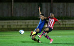 SOUTHAMPTON, ENGLAND - DECEMBER 11: Tyreke Johnson Scores for Southampton FC (right) during the U23s Cup match between Southampton FC and West Ham United pictured at Staplewood Training Ground on December 11, 2018 in Southampton England. (Photo by James Bridle - Southampton FC/Southampton FC via Getty Images)