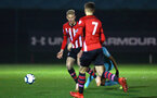 SOUTHAMPTON, ENGLAND - DECEMBER 14: Christoph Klarer (left) during the U23s PL2 match between Southampton FC and Newcastle United pictured at Staplewood Training Ground on December 14, 2018 in Southampton England. (Photo by James Bridle - Southampton FC/Southampton FC via Getty Images)