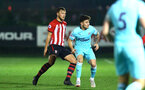 SOUTHAMPTON, ENGLAND - DECEMBER 14: Harry Hamblin (left) during the U23s PL2 match between Southampton FC and Newcastle United pictured at Staplewood Training Ground on December 14, 2018 in Southampton England. (Photo by James Bridle - Southampton FC/Southampton FC via Getty Images)