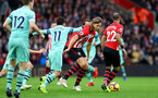 SOUTHAMPTON, ENGLAND - DECEMBER 16: Jannik Vestergaard of Southampton during the Premier League match between Southampton FC and Arsenal FC at St Mary's Stadium on December 15, 2018 in Southampton, United Kingdom. (Photo by Matt Watson/Southampton FC via Getty Images)