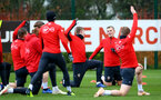 SOUTHAMPTON, ENGLAND - DECEMBER 19: James Ward-Prowse (right) at Staplewood Complex on December 19, 2018 in Southampton, England. (Photo by James Bridle - Southampton FC/Southampton FC via Getty Images)