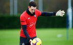 SOUTHAMPTON, ENGLAND - DECEMBER 19:Alex McCarthy during a Southampton FC training session at Staplewood Complex on December 19, 2018 in Southampton, England. (Photo by James Bridle - Southampton FC/Southampton FC via Getty Images)