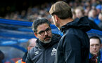 HUDDERSFIELD, ENGLAND - DECEMBER 22:  David Wagner(L) and Ralph Hasenhuttl during the Premier League match between Huddersfield Town and Southampton FC at John Smith's Stadium on December 22, 2018 in Huddersfield, United Kingdom. (Photo by Matt Watson/Southampton FC via Getty Images)