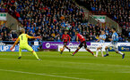 HUDDERSFIELD, ENGLAND - DECEMBER 22:  Nathan Redmond of Southampton opens the scoring during the Premier League match between Huddersfield Town and Southampton FC at John Smith's Stadium on December 22, 2018 in Huddersfield, United Kingdom. (Photo by Matt Watson/Southampton FC via Getty Images)