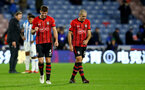 HUDDERSFIELD, ENGLAND - DECEMBER 22:  Jack Stephens(L) and Oriol Romeu of Southampton during the Premier League match between Huddersfield Town and Southampton FC at John Smith's Stadium on December 22, 2018 in Huddersfield, United Kingdom. (Photo by Matt Watson/Southampton FC via Getty Images)