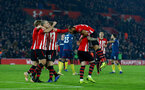 SOUTHAMPTON, ENGLAND - DECEMBER 27:  Nathan Redmond(R) of Southampton is lifted up by his team mates after opening the scoring during the Premier League match between Southampton FC and West Ham United at St Mary's Stadium on December 27, 2018 in Southampton, United Kingdom. (Photo by Matt Watson/Southampton FC via Getty Images)