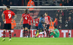SOUTHAMPTON, ENGLAND - DECEMBER 27:  Southampton concede during the Premier League match between Southampton FC and West Ham United at St Mary's Stadium on December 27, 2018 in Southampton, United Kingdom. (Photo by Matt Watson/Southampton FC via Getty Images)