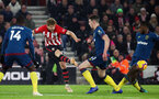 SOUTHAMPTON, ENGLAND - DECEMBER 27: Stuart Armstrong during the Premier League match between Southampton FC and West Ham United at St Mary's Stadium on December 26, 2018 in Southampton, United Kingdom. (Photo by Chris Moorhouse/Southampton FC via Getty Images)