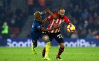 SOUTHAMPTON, ENGLAND - DECEMBER 27: Nathan Redmond (right) during the Premier League match between Southampton FC and West Ham United at St Mary's Stadium on December 27, 2018 in Southampton, United Kingdom. (Photo by James Bridle - Southampton FC/Southampton FC via Getty Images)