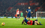 SOUTHAMPTON, ENGLAND - DECEMBER 27: Matt Target (right) during the Premier League match between Southampton FC and West Ham United at St Mary's Stadium on December 27, 2018 in Southampton, United Kingdom. (Photo by James Bridle - Southampton FC/Southampton FC via Getty Images)