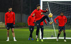 SOUTHAMPTON, ENGLAND - DECEMBER 28:  Manolo Gabbiadini (middle) during a Southampton FC training session at Staplewood Training Ground on December 28, 2018 in Southampton, United Kingdom. (Photo by James Bridle - Southampton FC/Southampton FC via Getty Images)