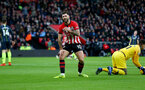 SOUTHAMPTON, ENGLAND - DECEMBER 30:  Charlie Austin of Southampton during the Premier League match between Southampton FC and Manchester City at St Mary's Stadium on December 30, 2018 in Southampton, United Kingdom. (Photo by Matt Watson/Southampton FC via Getty Images)