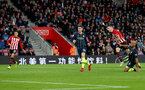 SOUTHAMPTON, ENGLAND - DECEMBER 30:  Pierre-Emile Hojbjerg of Southampton scores during the Premier League match between Southampton FC and Manchester City at St Mary's Stadium on December 30, 2018 in Southampton, United Kingdom. (Photo by Matt Watson/Southampton FC via Getty Images)