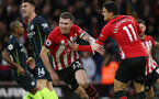 SOUTHAMPTON, ENGLAND - DECEMBER 30: Pierre-Emile Hojbjerg's goal celebration during the Premier League match between Southampton FC and Manchester City at St Mary's Stadium on December 29, 2018 in Southampton, United Kingdom. (Photo by Chris Moorhouse/Southampton FC via Getty Images)