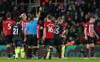 SOUTHAMPTON, ENGLAND - DECEMBER 30: Pierre-Emile Hojbjerg is sent off during the Premier League match between Southampton FC and Manchester City at St Mary's Stadium on December 29, 2018 in Southampton, United Kingdom. (Photo by Chris Moorhouse/Southampton FC via Getty Images)