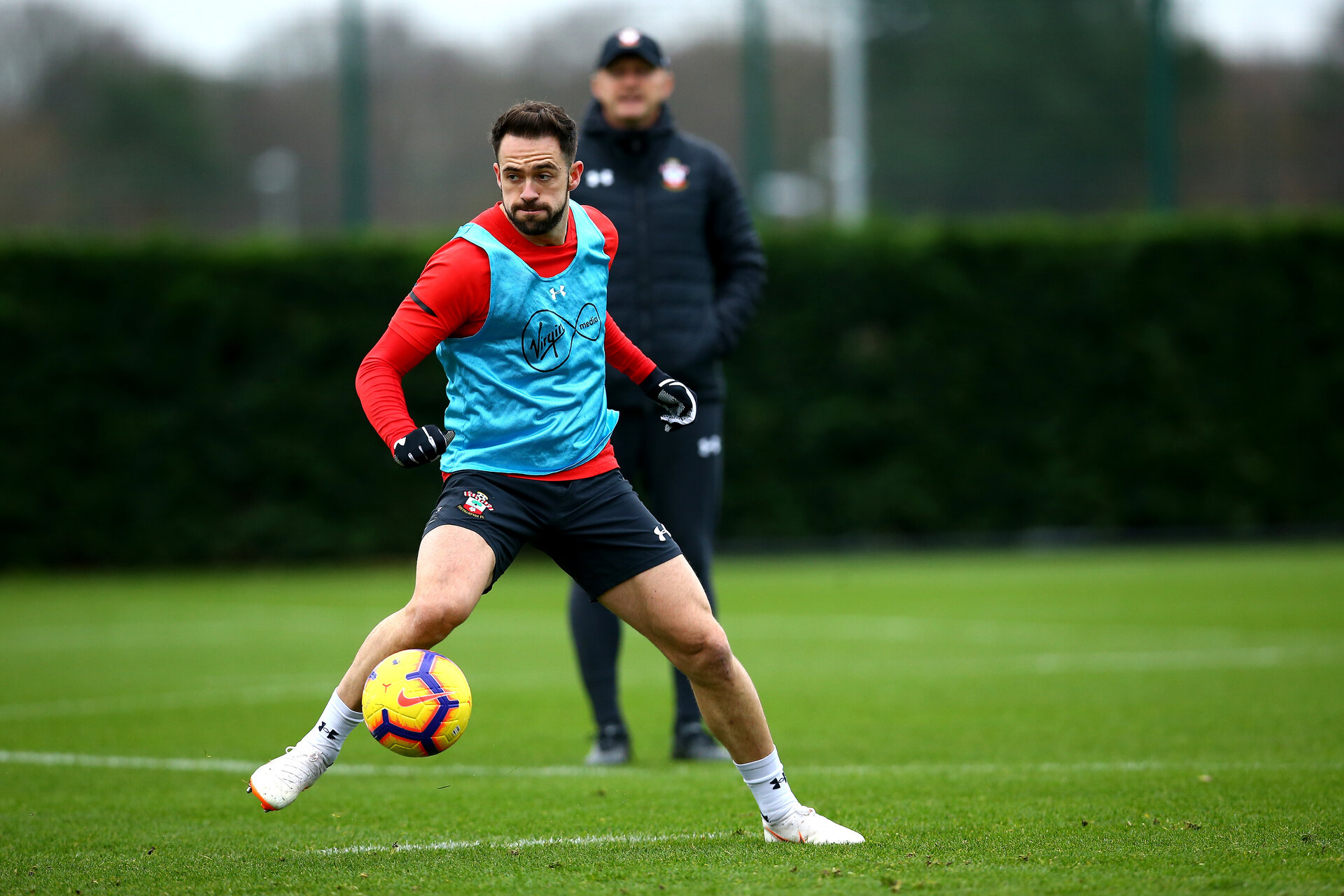 SOUTHAMPTON, ENGLAND - DECEMBER 31:  Danny Ings during a Southampton FC training session at Staplewood Training Ground on December 31, 2018 in Southampton, United Kingdom. (Photo by James Bridle - Southampton FC/Southampton FC via Getty Images)
